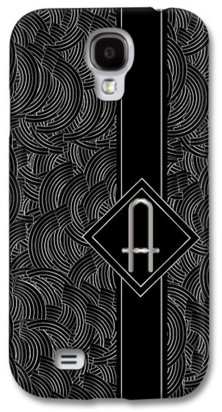Deco Jazz Swing Monogram ...a Galaxy S4 Case by Cecely Bloom
