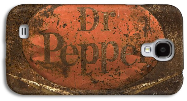 Dr Pepper Vintage Sign Galaxy S4 Case by Bob Christopher