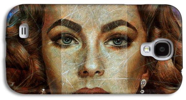 Elizabeth Taylor Galaxy S4 Case by Arthur Braginsky