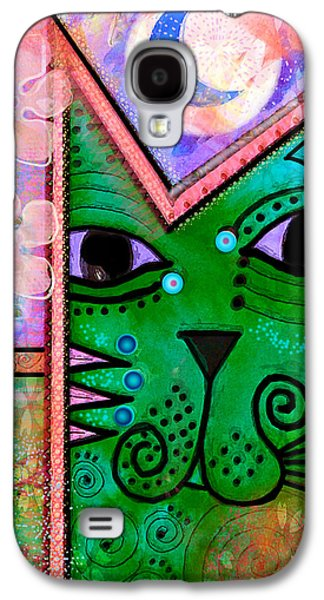 House Of Cats Series - Moon Cat Galaxy S4 Case by Moon Stumpp