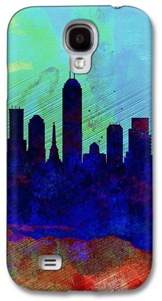 IIndianapolis Watercolor Skyline Galaxy S4 Case by Naxart Studio
