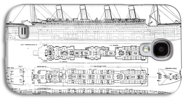 Inquiry Into The Loss Of The Titanic Cross Sections Of The Ship  Galaxy S4 Case