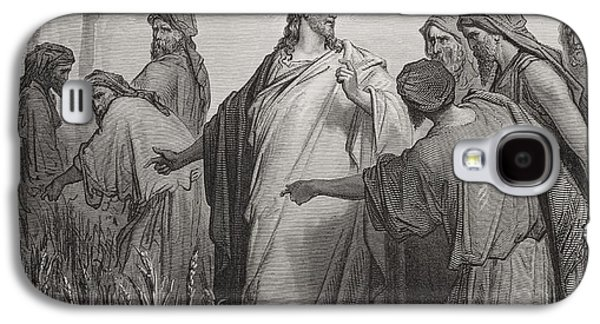 Jesus And His Disciples In The Corn Field Galaxy S4 Case by Gustave Dore