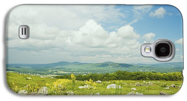 Large Blueberry Field With Mountains And Blue Sky In Maine Galaxy S4 Case by Keith Webber Jr