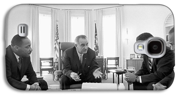 Lyndon Baines Johnson 1908-1973 36th President Of The United States In Talks With Civil Rights  Galaxy S4 Case