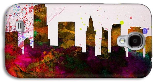 Miami City Skyline Galaxy S4 Case by Naxart Studio
