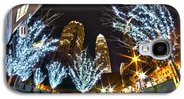 Nightlife Around Charlotte At Christmas Galaxy S4 Case