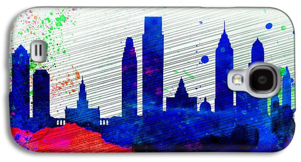Philadelphia City Skyline Galaxy S4 Case by Naxart Studio