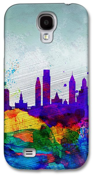 Philadelphia Watercolor Skyline Galaxy S4 Case by Naxart Studio