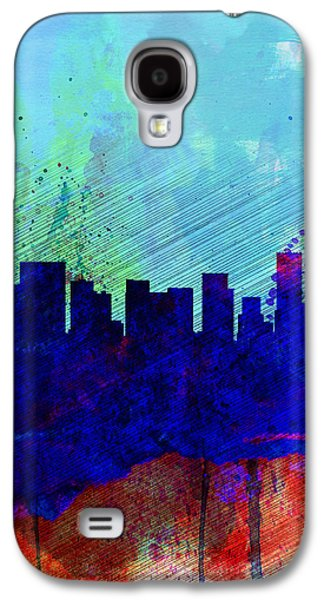 Portland Watercolor Skyline Galaxy S4 Case by Naxart Studio