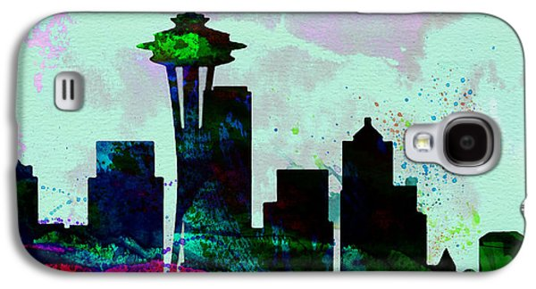 Seattle City Skyline Galaxy S4 Case by Naxart Studio