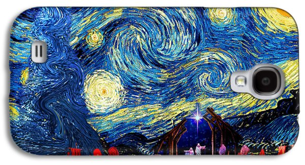 Starry Night In Bethlehem Galaxy S4 Case by Sylvia Thornton