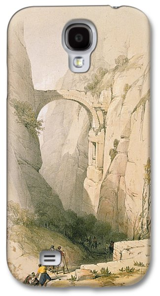 Triumphal Arch Crossing The Ravine Leading To Petra Galaxy S4 Case