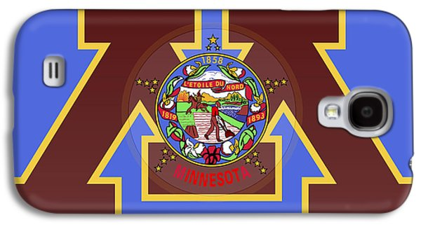 U Of M Minnesota State Flag Galaxy S4 Case