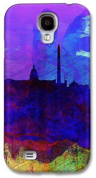 Washington Dc Watercolor Skyline 2 Galaxy S4 Case by Naxart Studio