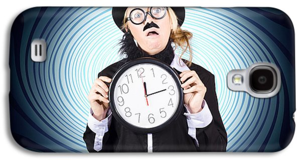 Nutty Professor With Clock. Crazy Science Time Galaxy S4 Case by Jorgo Photography - Wall Art Gallery