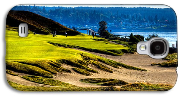 #16 At Chambers Bay Golf Course - Location Of The 2015 U.s. Open Tournament Galaxy S4 Case by David Patterson