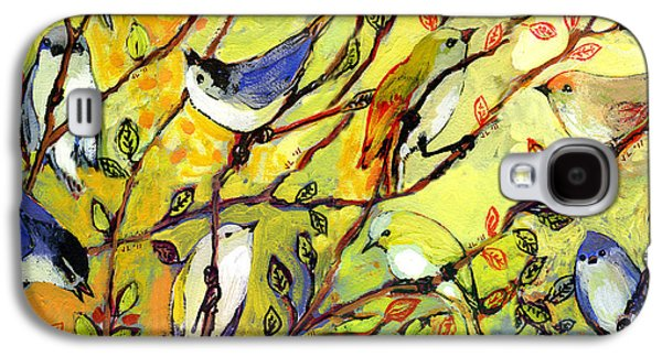 Bluebird Galaxy S4 Case - 16 Birds by Jennifer Lommers