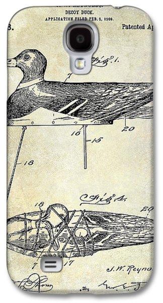 1910 Duck Decoy Patent Drawing Galaxy S4 Case by Jon Neidert