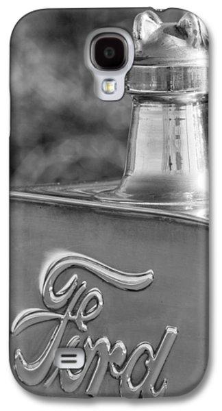 1911 Ford Model T Torpedo 4 Cylinder 25 Hp Hood Ornament  Emblem Galaxy S4 Case by Jill Reger