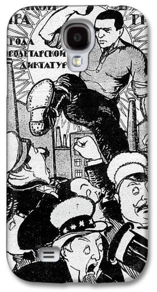 1920s Soviet Propaganda Poster Galaxy S4 Case