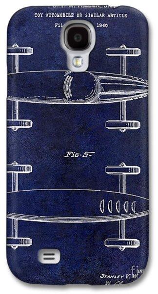 1940 Toy Car Patent Drawing Blue Galaxy S4 Case by Jon Neidert