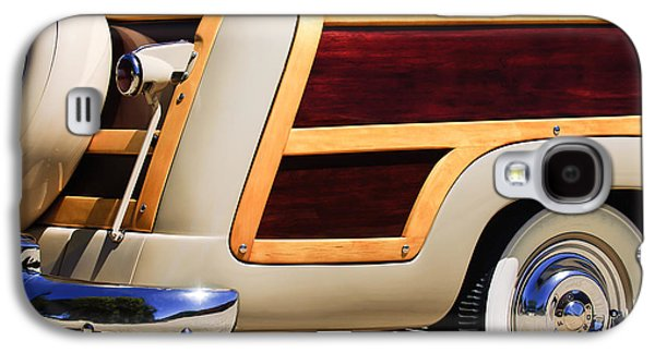 1950 Ford Custom Deluxe Station Wagon Rear End - Woodie Galaxy S4 Case by Jill Reger