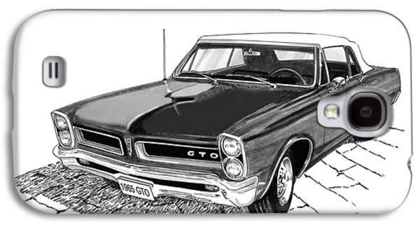 1965 Pontiac G T O Convertible Galaxy S4 Case by Jack Pumphrey