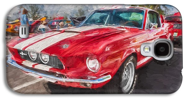 1967 Ford Shelby Mustang Gt500 Painted  Galaxy S4 Case by Rich Franco