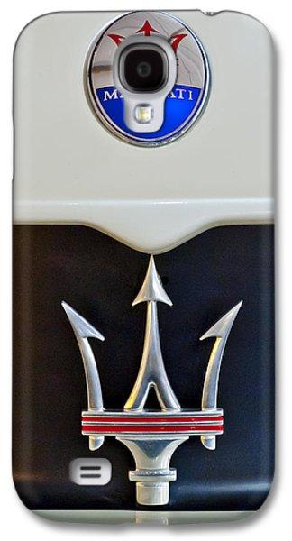 2005 Maserati Mc12 Hood Emblem Galaxy S4 Case by Jill Reger