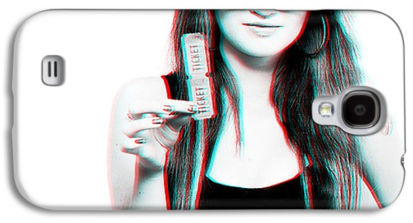 3d Woman Holding Movie Tickets Galaxy S4 Case by Jorgo Photography - Wall Art Gallery