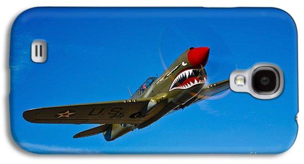 A Curtiss P-40e Warhawk In Flight Galaxy S4 Case by Scott Germain