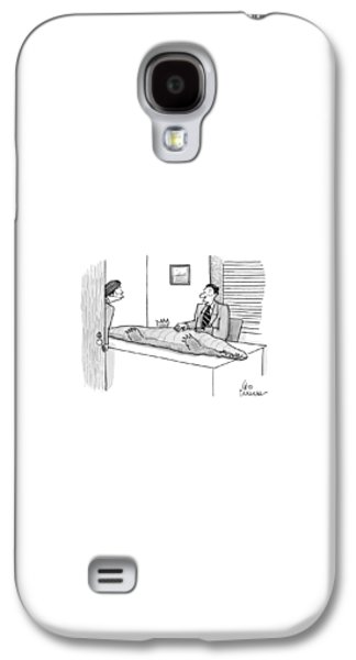 Reptiles Galaxy S4 Case - A Man Touches The Belly Of A Crocodile by Leo Cullum