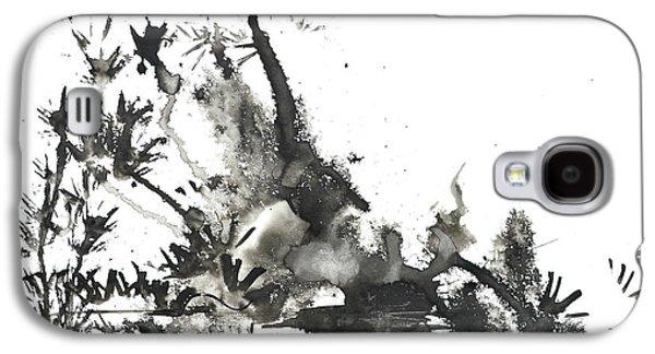Abstract Ink Art Galaxy S4 Case by Patricia Awapara