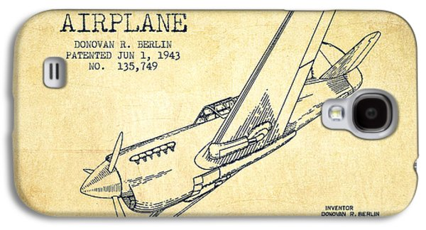 Airplane Patent Drawing From 1943-vintage Galaxy S4 Case by Aged Pixel