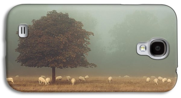 Amongst The Flock On An Autumn Morning Galaxy S4 Case by Chris Fletcher