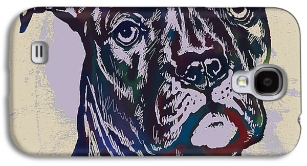 Animal Pop Art Etching Poster - Dog 13 Galaxy S4 Case by Kim Wang