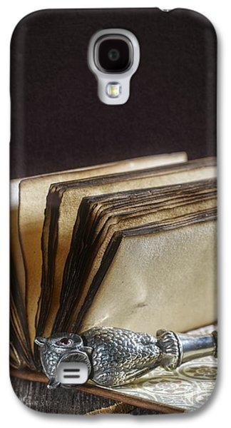 Antique Silver Owl Seal Galaxy S4 Case