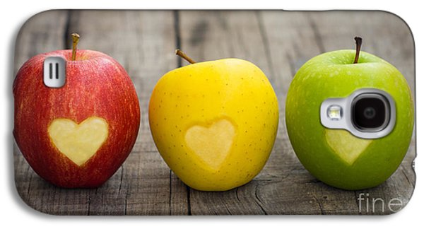 Apples With Engraved Hearts Galaxy S4 Case