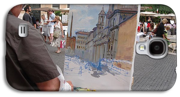 Artist At Work Rome Galaxy S4 Case by Ylli Haruni