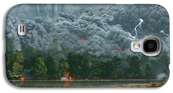 Artwork Of A Pyroclastic Flow Galaxy S4 Case