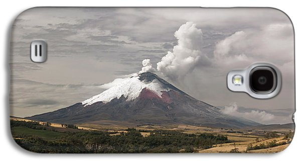 Ash Plume Rising From Cotopaxi Volcano Galaxy S4 Case by Dr Morley Read