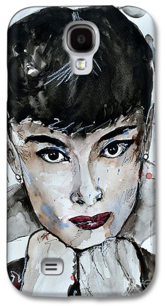 Audrey Hepburn - Abstract Art Galaxy S4 Case by Ismeta Gruenwald