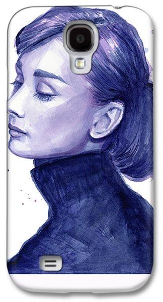 Audrey Hepburn Portrait Galaxy S4 Case by Olga Shvartsur
