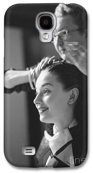Audrey Hepburn Preparing For A Scene In Roman Holiday Galaxy S4 Case by The Harrington Collection