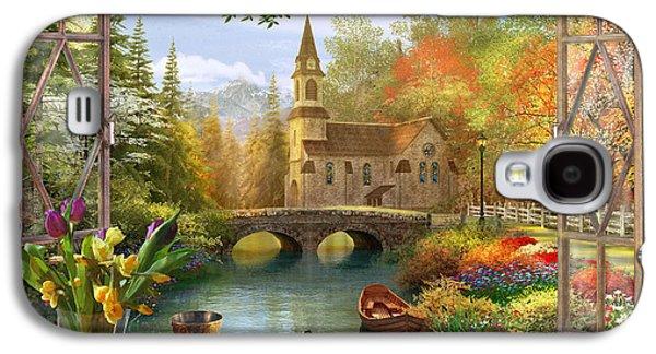 Autumn Church Frame Galaxy S4 Case