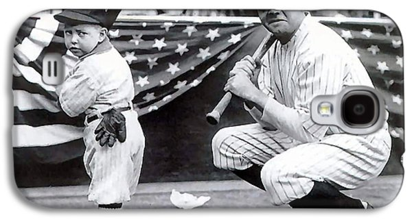 Babe Ruth Galaxy S4 Case by Marvin Blaine