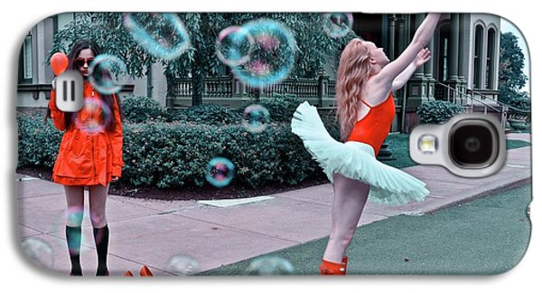 Ballerina With Mysterious Girl Galaxy S4 Case by