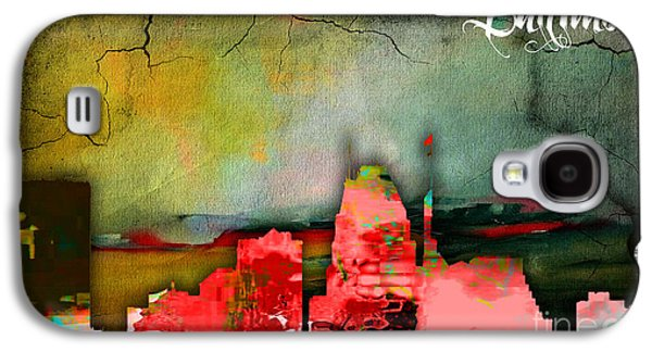 Baltimore Skyline Watercolor Galaxy S4 Case