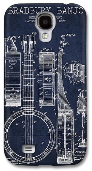 Banjo Patent Drawing From 1882 - Blue Galaxy S4 Case